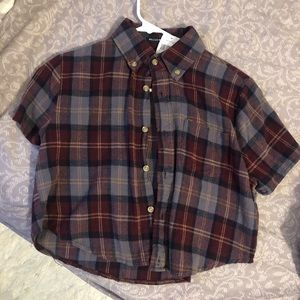 NWT Brandy Melville Cropped Flannel